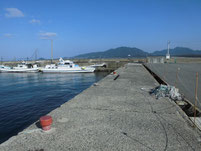 神湊漁港 乗り場横護岸