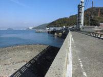 粭島漁港 小瀬戸橋下
