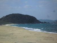 鐘崎海水浴場 左側