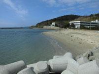 津屋崎漁港 砂地