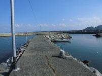 波津漁港 左側 旧波止