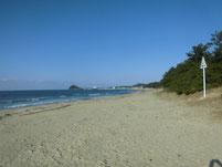 さつき松原海岸 砂浜