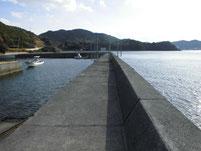 落漁港 右側フェンス手前