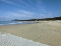 花鶴川河口周辺 砂浜