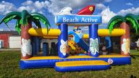 beach party hüpfburg rutsche