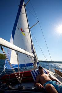 segeln, sonnen, chillen