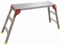 Plataforma de aluminio plegable