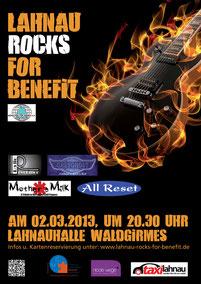 Veranstaltungsplakat zu Lahnau rocks for Benefit