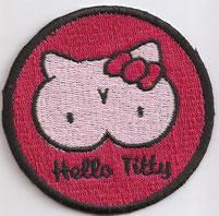 Hello Titty Kitty beast, biker Rockabilly Busen Liebhaber, Ultras Kutten Aufnäher Patch