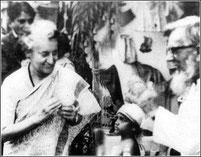 Padre Francesco con Indira Gahndi