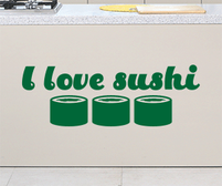 I love sushi sticker decal