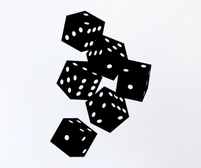 Falling Dice wall art sticker