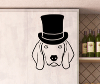 Weimaraner wall art sticker with accessories