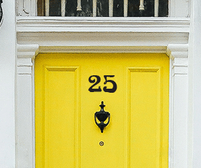 Door number self adhesive stickers in an art nouveau style