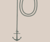 Anchor and Rope wall art sticker
