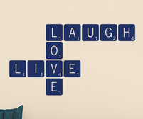 Live Laugh Love Scrabble sticker