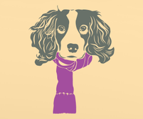 Springer Spaniel wall art sticker