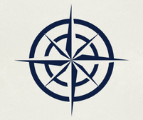 Nautical Compass wall art sticker