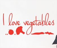 I love vegetables sticker