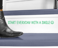 Start everyday with a smile wall art sticker