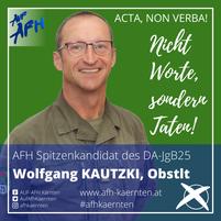 Obstlt Wolfgang Kautzki, Vorsitzender des DA/JgB25