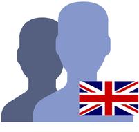 England englische Flagge für Sprachkurse