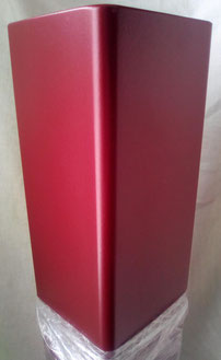 Qualité finition rouge rubis sur pied de table HoYa
