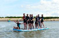 stand up paddle en groupe,séminaire