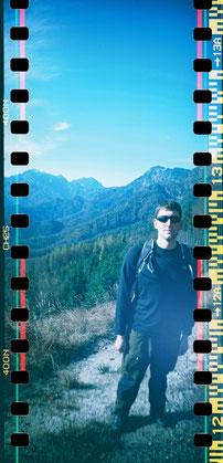 Porträt:   Mein Zukünftiger beim Wandern im Herbsturlaub. Aufgenommen mit der Sprocket.