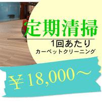 カーペットクリーニング(30㎡)まで18000円から承っています。