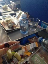 unser Essen im Flugi...