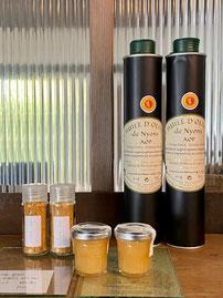 南仏オリーブオイル 弥平一味唐辛子 在来種日本蜜蜂非加熱蜂蜜