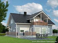 Holzhaus in echter Blockbauweise