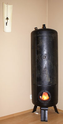 Wassertank umgebaut als Schrank