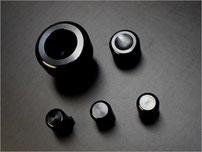 NA用アルミビレットA/Cノブ&ダイヤルセット(ブラック)