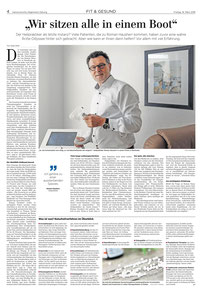 Artikel über unsere Praxis in der HAZ Beilage vom 16.3.2018.  Mit freundlicher Genehmigung der Verlagsgesellschaft Madsack.