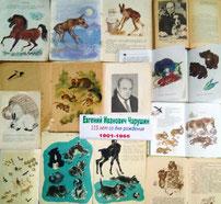 Книги Е. И. Чарушина в школьной библиотеке
