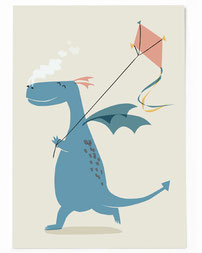 Postkarte - Drache