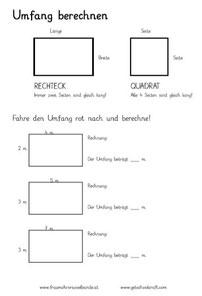 Umfang berechnen - Einführung - fraumohrsrasselbandes Webseite!