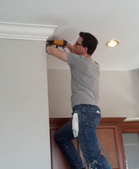 Installing a Large Crown Moulding