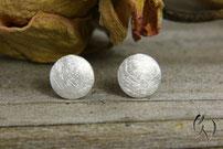 Kleine Scheiben-Ohrstecker Silber