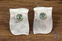 Ohrstecker Silber mit Turmalin