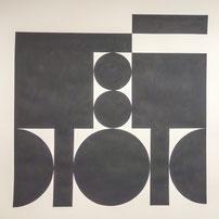 Ellen Roß: squares & circles n°3, 2018, 50 x 50 cm, Vinyl auf Papier