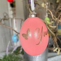 Druckatelier46 - Weihnachtskugeln mit Namen dunkelblau glänzend