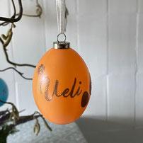 Druckatelier46 - personalisierte Weihnachtskugeln schwarz glänzend