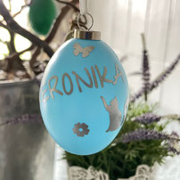 Druckatelier46 - personalisierte Weihnachtskugeln dunkelgrün glänzend