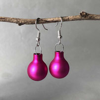 Druckatelier46 - Ohrstecker Weihnachtskugeln weiss matt