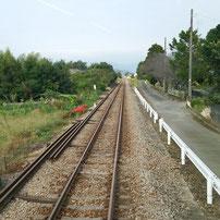 甘木鉄道の車窓から眺める甘鉄沿線風景