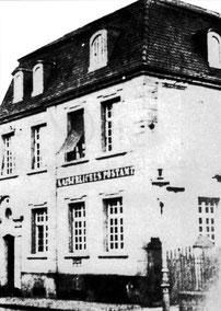 dudweiler, saarbruecken, saarland, post, postamt 1909