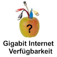 Gigabit Internet Verfügbarkeit der Anbieter in Deutschland
